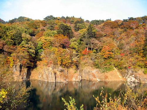 ダム湖 湖岸